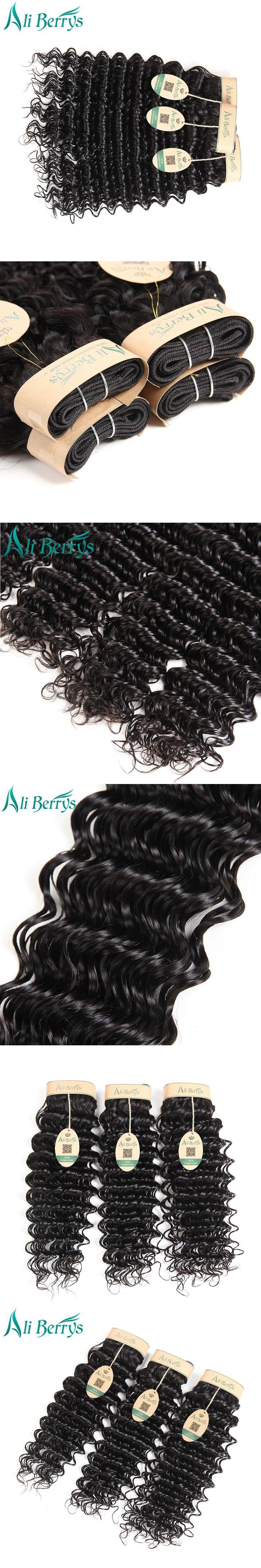 Ali Berrys Deep Wave Malaysian Hair Bundles 8-28 Inches Malaysian Deep Wave Remy Human Hair Weave Bundles Natural Color