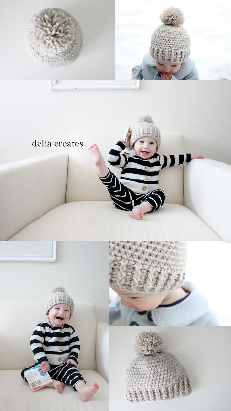 delia creates: Crocheted Ribbed Beanie - Free Pattern-size 9-12 months (go down one hook size for a size smaller and up a hook size for a size bigger)