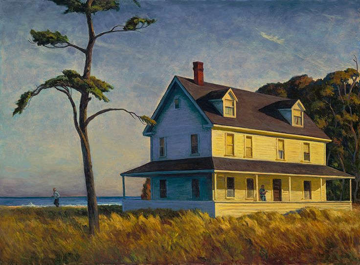 Mark Beck... this image, inspired by Hopper, is nevertheless its own thing--compelling in its spacious evening atmosphere...