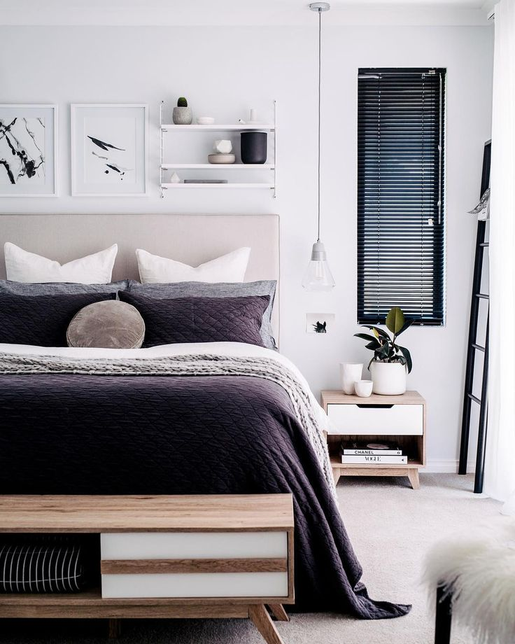 I like this bench with storage space at end of bed