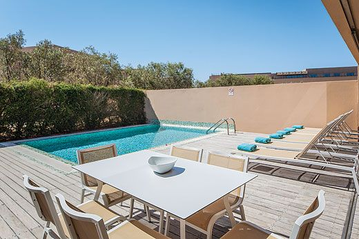 Vidamar Deluxe II in VidaMar Algarve Resort. With a private pool surrounded by decking and a shaded terrace, this area is ideal for families. #ABTAEarlybird