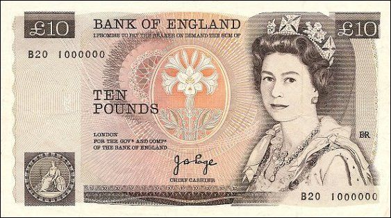 Love the old 10 pound note.