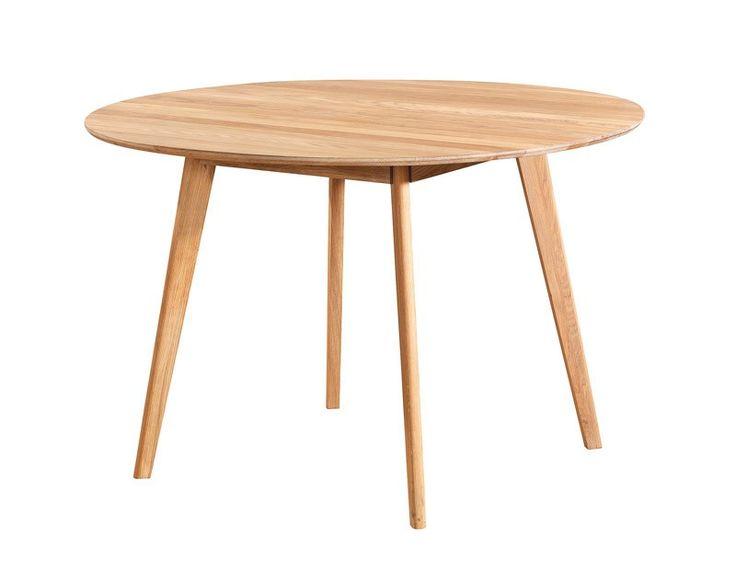 Bello spisebord   rundt bord i olieret eg   115 cm. moderne og ...