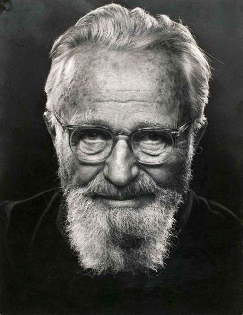 Edward Steichen, ca 1960 -by Philippe Halsman