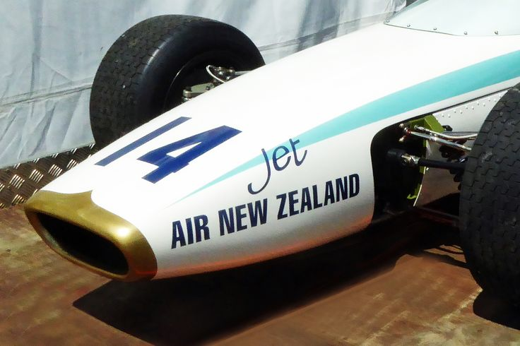 Close up of 1967 McLaren M4A-Cosworth recently restored, seen at 2016 New Zealand Festival of Motor Racing, Hampton Downs.