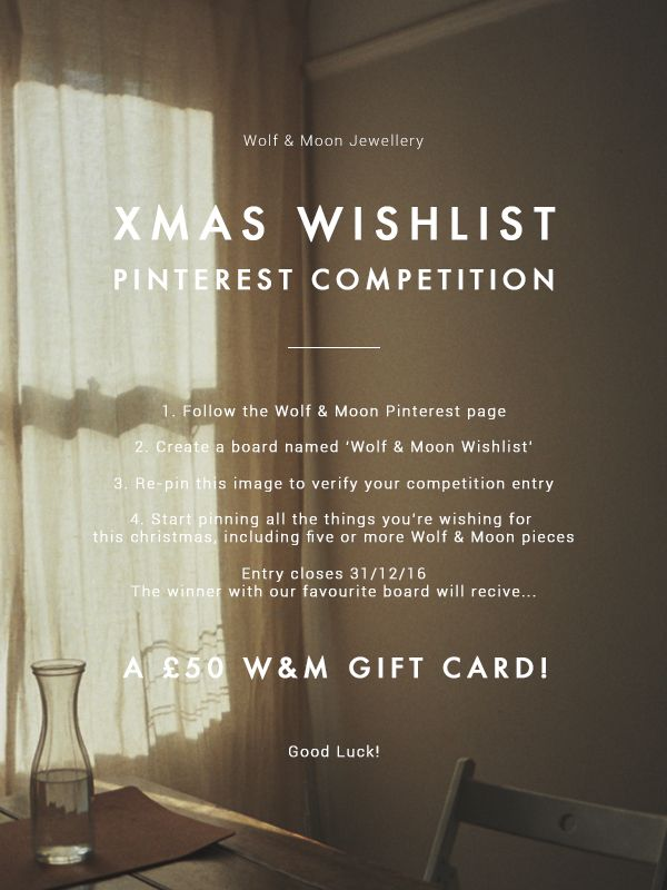 Christmas Wishlist Pinterest Competition! | Wolf & Moon