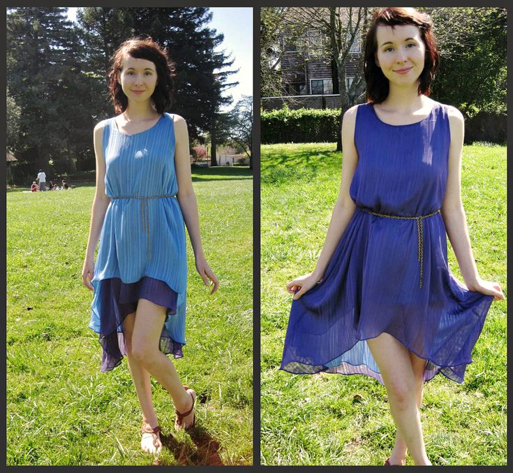 how to sew a reversible hi-low dress