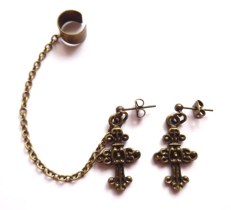 Ear cuff set med kors