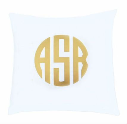 A personalized monogram throw pillow that works with any home decor.