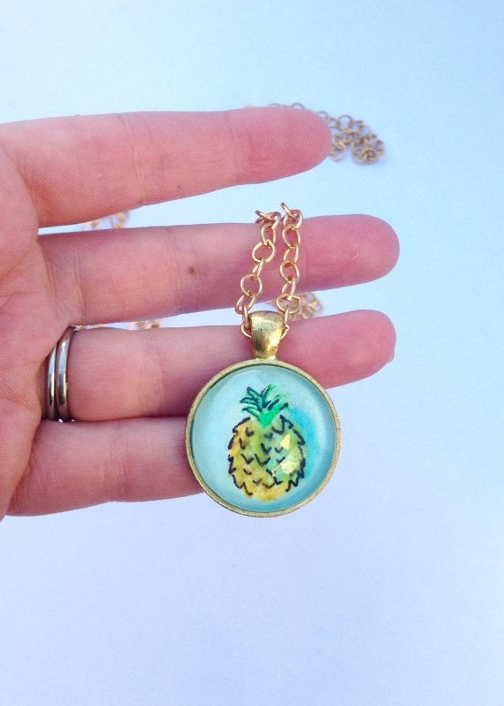 Handmade Pineapple Necklace Wearable Art by SailmakersDaughter