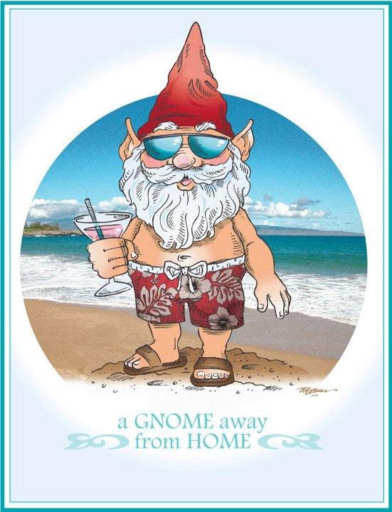 roubo de anao de jardim : roubo de anao de jardim:Original Artwork – Beach Gnome: Beach Gnome, Garden Xo, Gnome Artwork