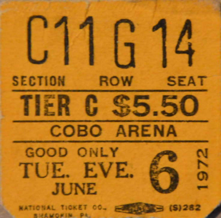 "My First Led Zeppelin Show.  We had nose bleed seats and worked our way down to front stage.  The final encore was ""Rock & Roll.""  Robert Plant came out in a red t-shirt with a black Superman S on his shirt.  Over the logo read ""Freddie King"".  Always wanted one of those t-shirts.  Led Zep IV Tour."