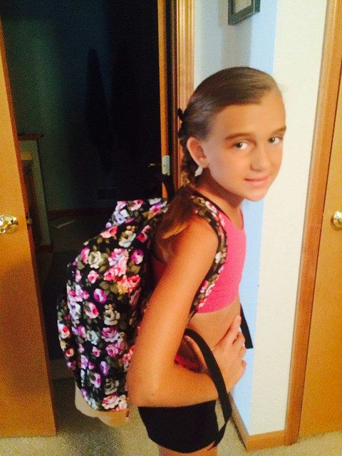 Only back to school purchase this far… Karli's new backpack.