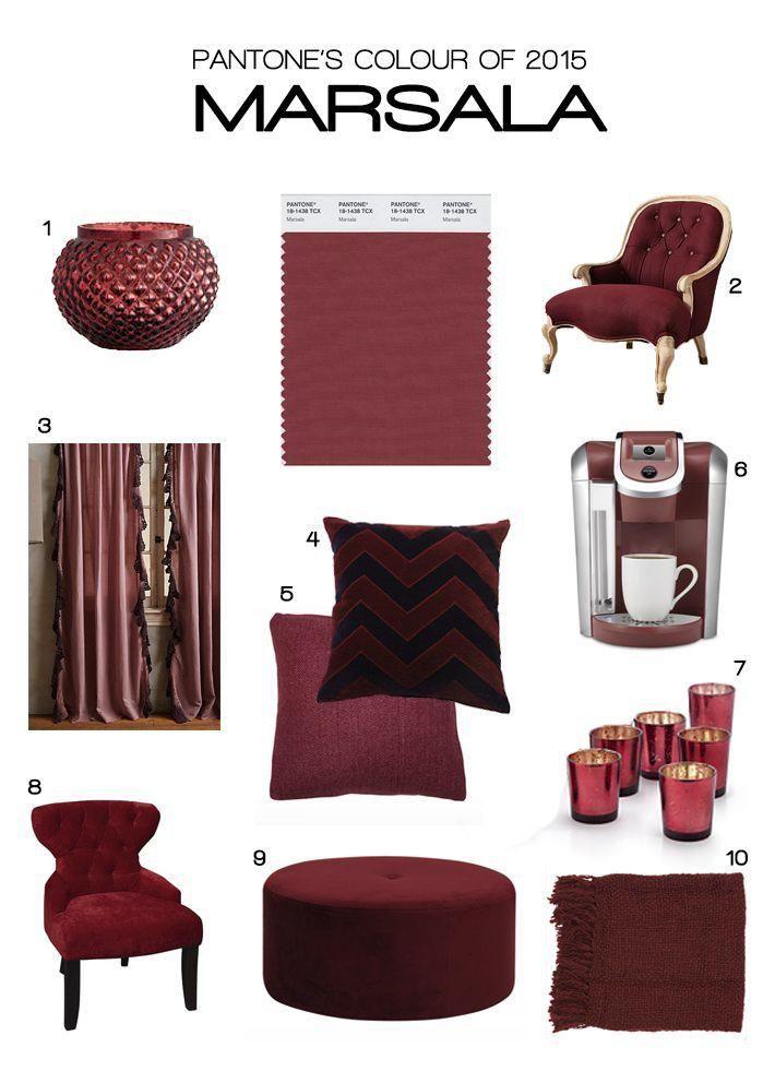 Marsala el color del año 2015 | Decorar Una Casa | Tendencias 2015: Mobilia para tu sala de estar