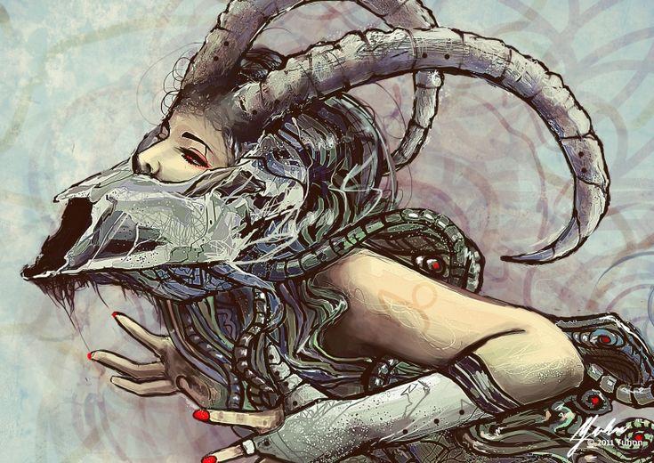 Capricorn: Sign, Inspiration, Illustration, Astrology, Capricorn Art, Zodiac Signs Capricorn