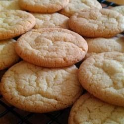 Easy Sugar Cookies | Quick and easy sugar cookies! They are really good, plain or with candies in them. My friend uses chocolate mints on top, and they're great!