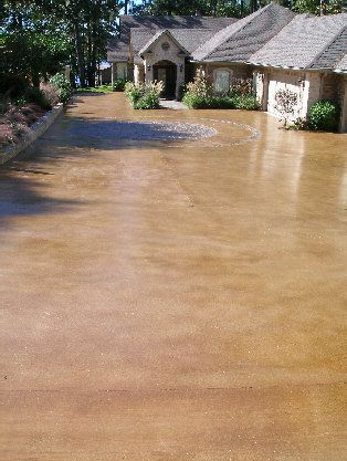 1000 ideas about stained concrete driveway on pinterest for Can i paint asphalt driveway