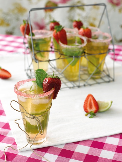 Strawberry Mojito Punch recipe