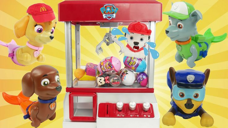 Paw Patrol Mer Pup love to play the Claw Machine game with Surprise Eggs Toys Blind Bags and Fashems. We have to try to save Rescue Marshall who fell in. We find preschool learning toys from Paw Patrol Disney Frozen Shopkins PJ Masks and more!  Subscribe here to never miss a video: https://www.youtube.com/channel/UCsRW8ikkc-uISUXtNKBfFcw?sub_confirmation=1  - Watch my last video: https://youtu.be/cbvZk0Q6Daw  More of my videos in playlists:  Secret Life of Pets…