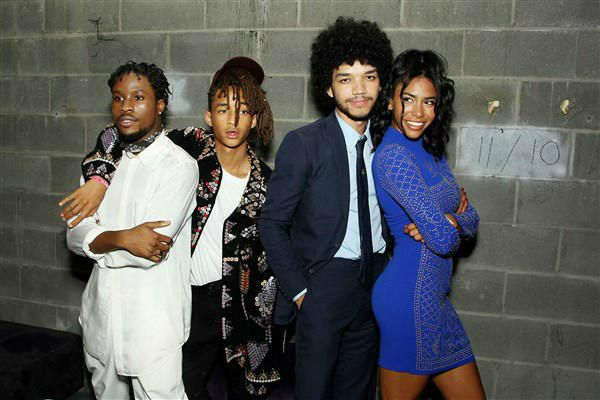"Shameik Moore, Jaden Smith, Justice Smith and Herizen Guardiola attend the after party for the premiere of the Netflix Original Series ""The Get Down"" in New York on Aug. 11, 2016"