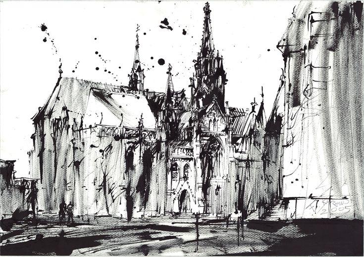 filip kurzewski; ink on paper; 50x35cm 19,5x10inch