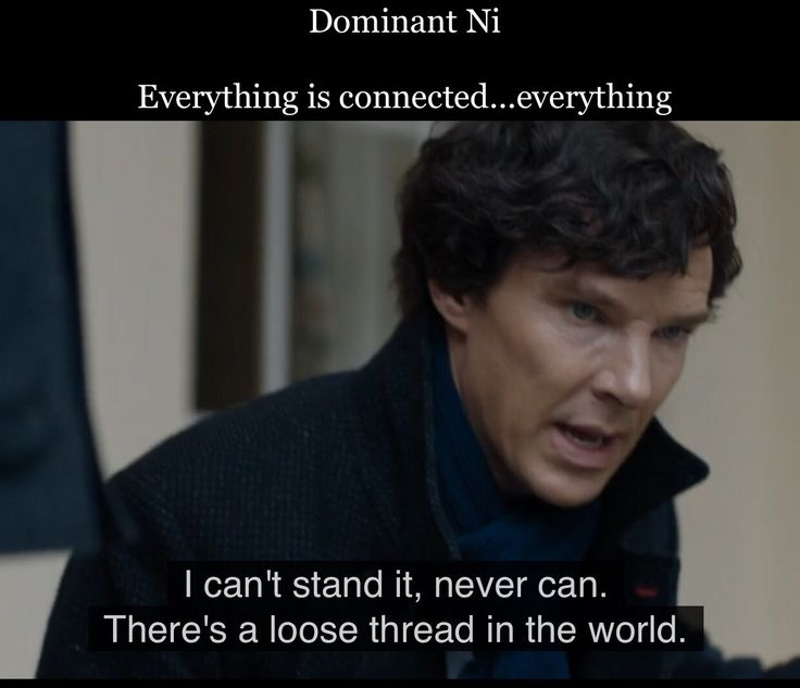 Sherlock and introverted intuition  (INTJs and INFJs have Dom Ni)