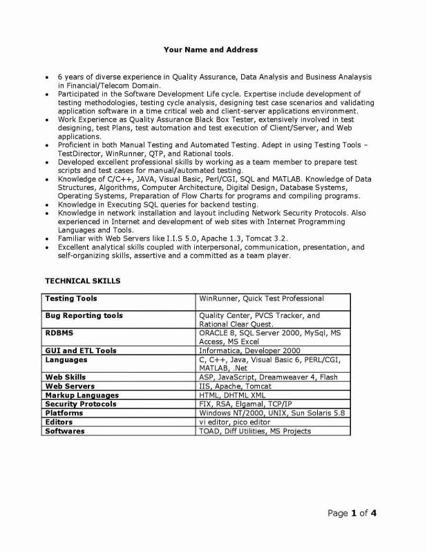 Bug Summary Report Template New Etl Testing Resume Sample Inspirational Mobile Testing Report Template Resume Template Examples Software Development Life Cycle