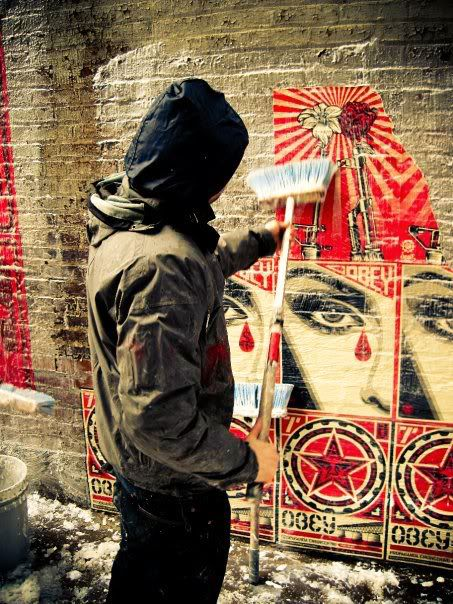 Frank Shepard Fairey (born February 15, 1970) is an American contemporary street artist, graphic designer, activist and illustrator who emerged from the skateboarding scene