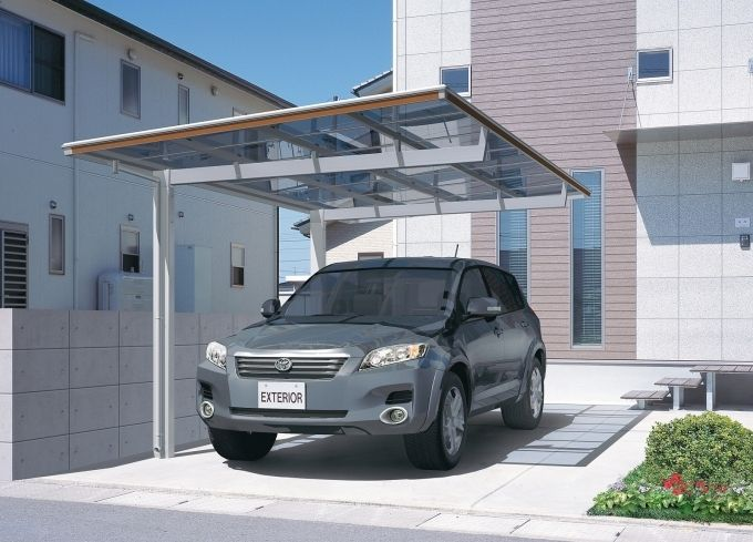 modern carport kit flat roof