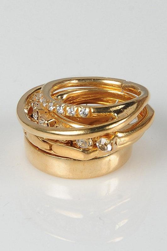 Iosselliani multi gold rings