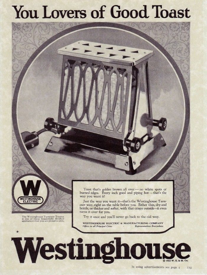 1920 Electric Toaster ~ Westinghouse electric chrome turnover toaster vintage deco