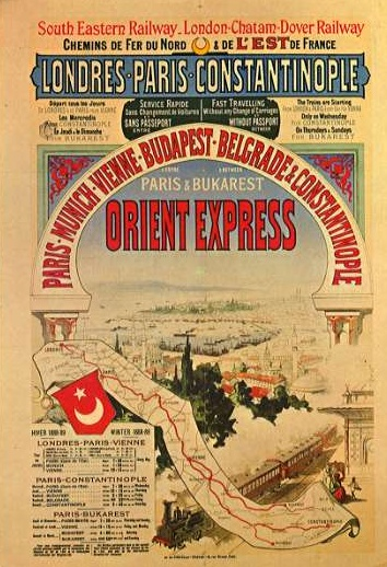 Original poster advertising the Orient Express. For similar vintage posters, check out http://www.vintageseekers.com/collectibles/travel-posters