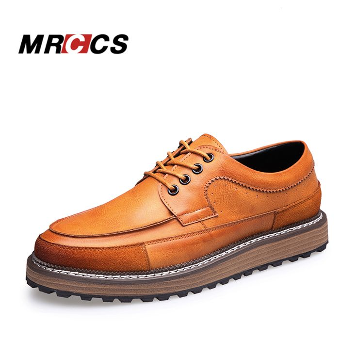 ==> [Free Shipping] Buy Best MRCCS Men's All Match Trendy Leather Platform ShoesMale Designer Style Casual ShoesBlack/Brown Height Increase Elevator Wedges Online with LOWEST Price | 32777413335