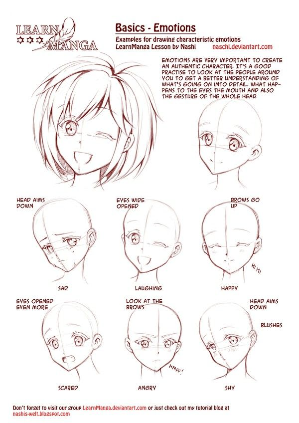 Manga Emotions Drawing Tutorial >> Why can't real people wink and look okay like that???