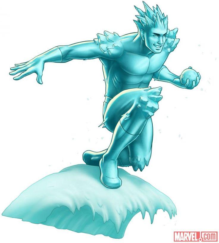 Iceman character model from Marvel: Avengers Alliance