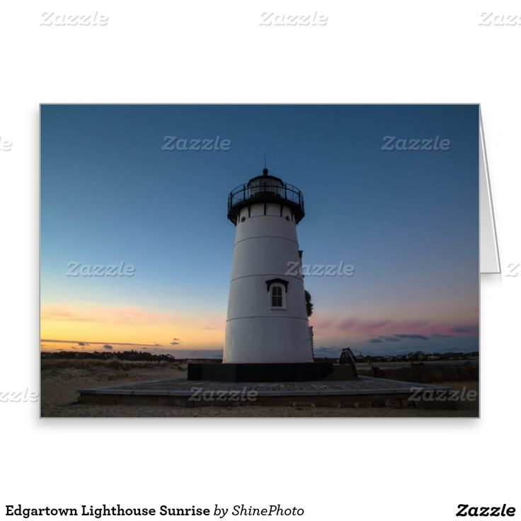 Edgartown Lighthouse Sunrise Greeting Card
