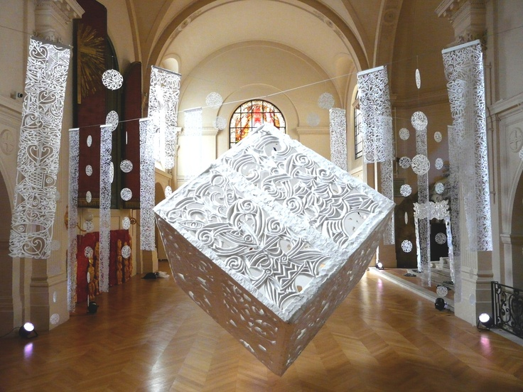 St Roch Chapel Installation by Tracey Tawhiao and George Nuku in Paris.