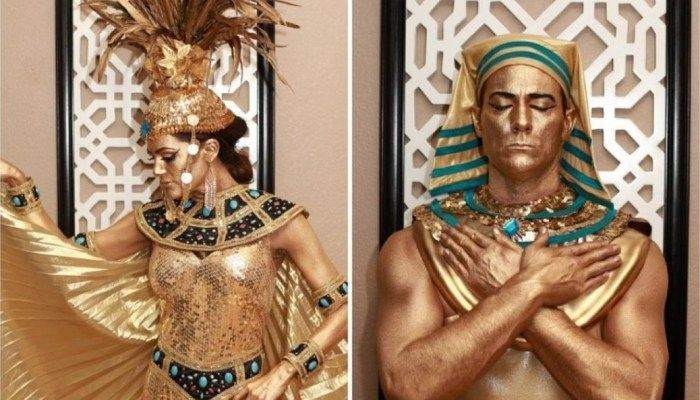 Gold Mehron paint how to Egyptian Costume by Cat Eye Kate HAPPY HALLOWEEN!!