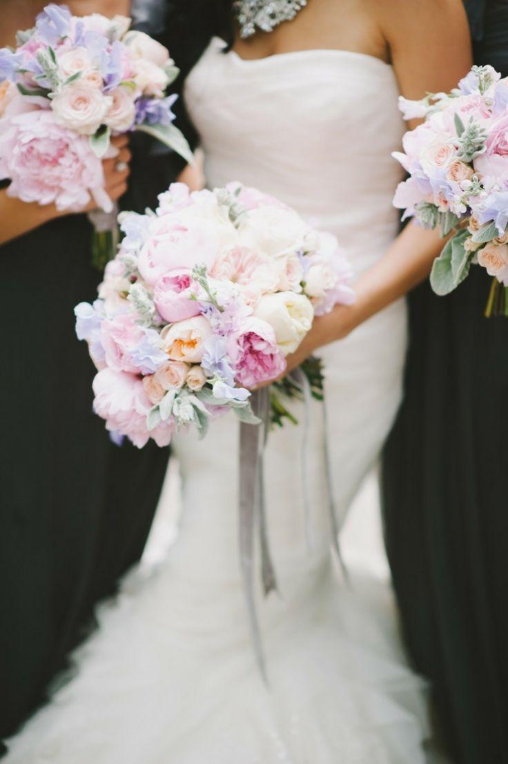 Love these bouquets!!! #pastel #bouquet #wedding #romantic #peonies