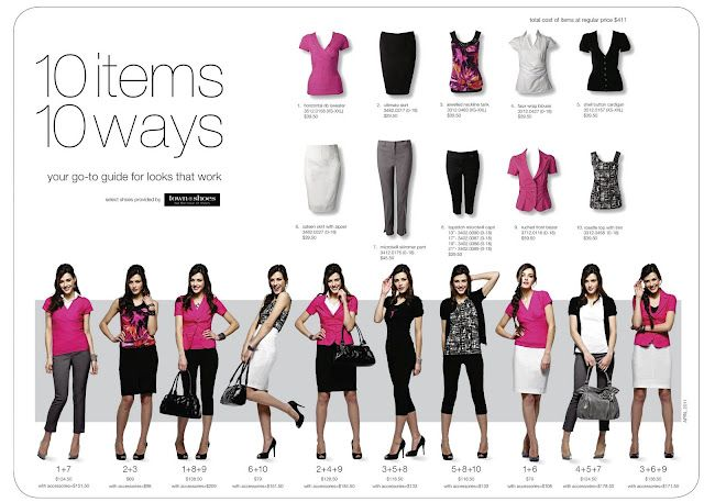 10 x 10 wardrobe challenge -- 10 pieces, 10 outfits.  This looks more doable than a 30 day challenge
