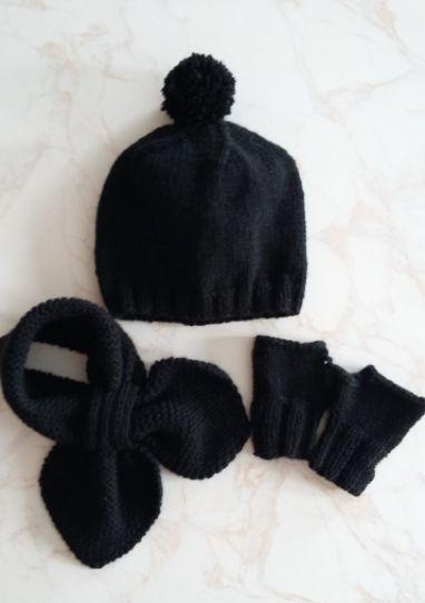 Modèle gratuit   ensemble bonnet, écharpe et mitaines 2-3 ans au tricot    tricot   Tricot, Bonnet et Bonnet echarpe e2c5708a530