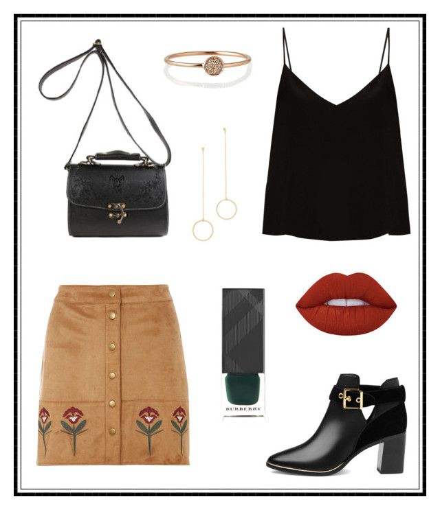 """""""#143"""" by e-elmedal on Polyvore featuring Dorothy Perkins, Raey, Ted Baker, Burberry, Lime Crime, Cloverpost and Sydney Evan"""