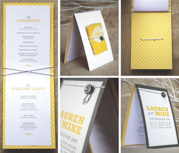 diy wedding program cute but requires lots of assembly printing would be easy one sided then cut and glued to colored card stock and folded