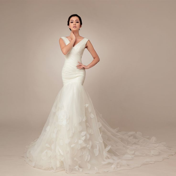2014 Fall Off shoulder Net bridal gown