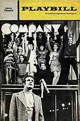 Company (musical) - 1971 Larry Kurt replaced Dean Jones after Opening night Elaine Stritch was excellent in this show  Being Alive is a great song from this Sondheim show Tony Award for Best Musical 1971