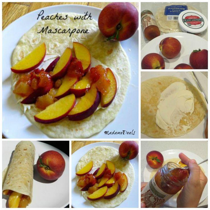 Healthy Snack Recipes Kid: Peaches with Mascarpone Recipe  #peaches #recipe
