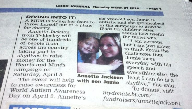 Annette's planned Jump for Autism -- Leigh Journal 27.3.14_n