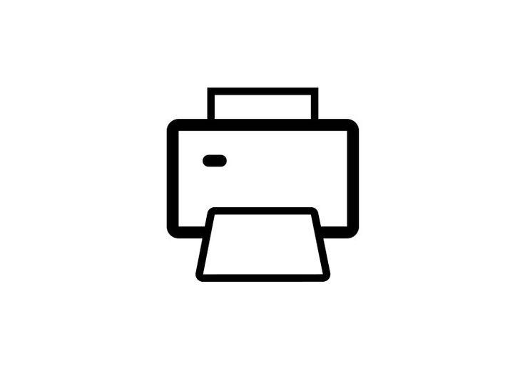 Simple Printer Outline Vector Icon