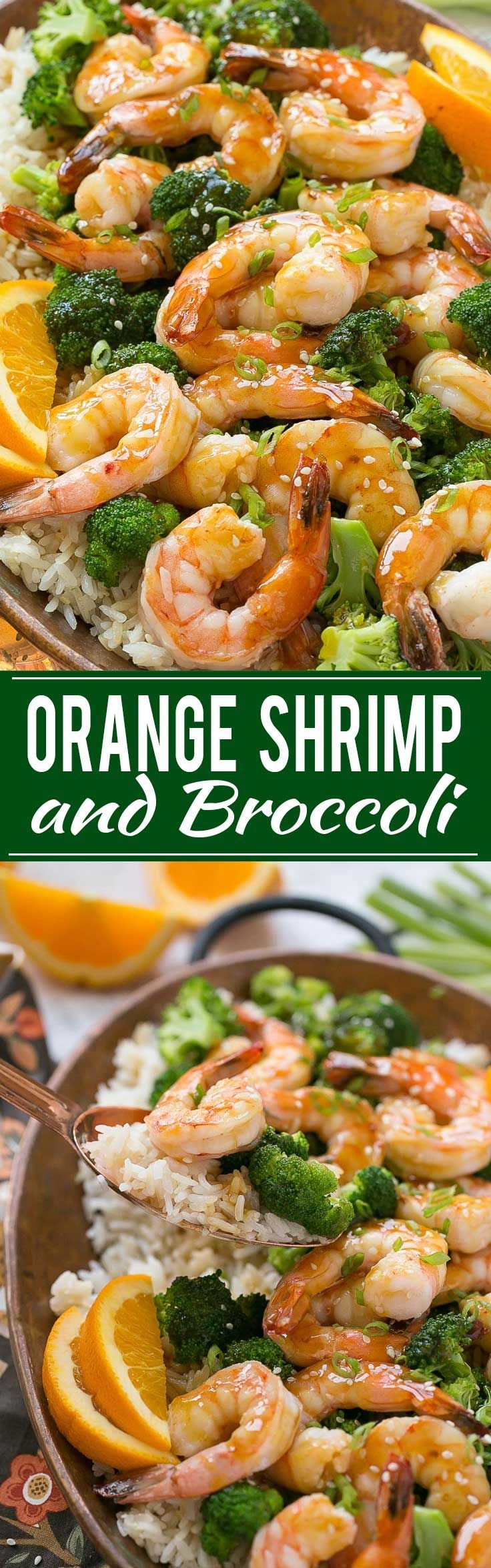 Orange Shrimp and Broccoli with Garlic Sesame Fried Rice - The perfect ...