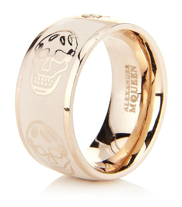 ALEXANDER MCQUEEN Enamel Skull Ring...This is Gorgeous...It needs to be on my finger